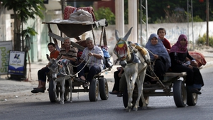 Gazans on the move to escape shelling