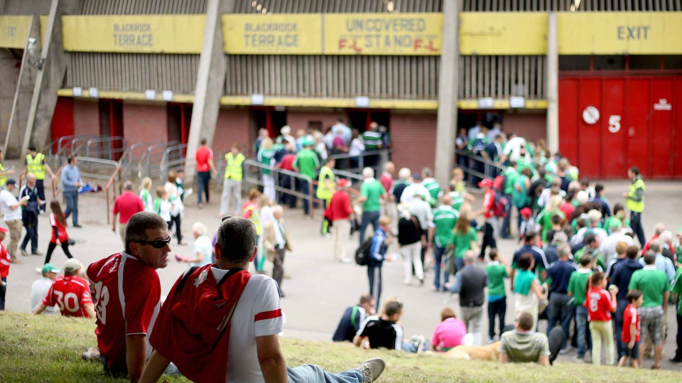 Fans line up outside Páirc Uí Chaoimh ahead of the Munster SHC final