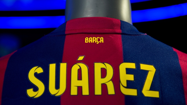 Barcelona fans can already buy Luis Suarez kits but FIFA have blocked any Suarez public appearance at Barca during his ban