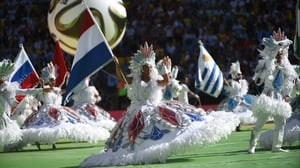 The World Cup closing ceremony started the day's festivities inside the Estádio Maracanã about two hours before kick-off
