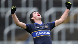 Tipperary's Colin O'Riordan celebrates after the final whistle in their game against Laois