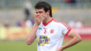 Tyrone's Aidan McCrory is dejected after the loss to Armagh