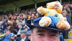 Elsewhere, Roscommon fan Kevin Farrell from Elphin shows his allegiance before the game against Cavan