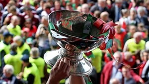 Andy Moran lifts aloft the Connacht trophy