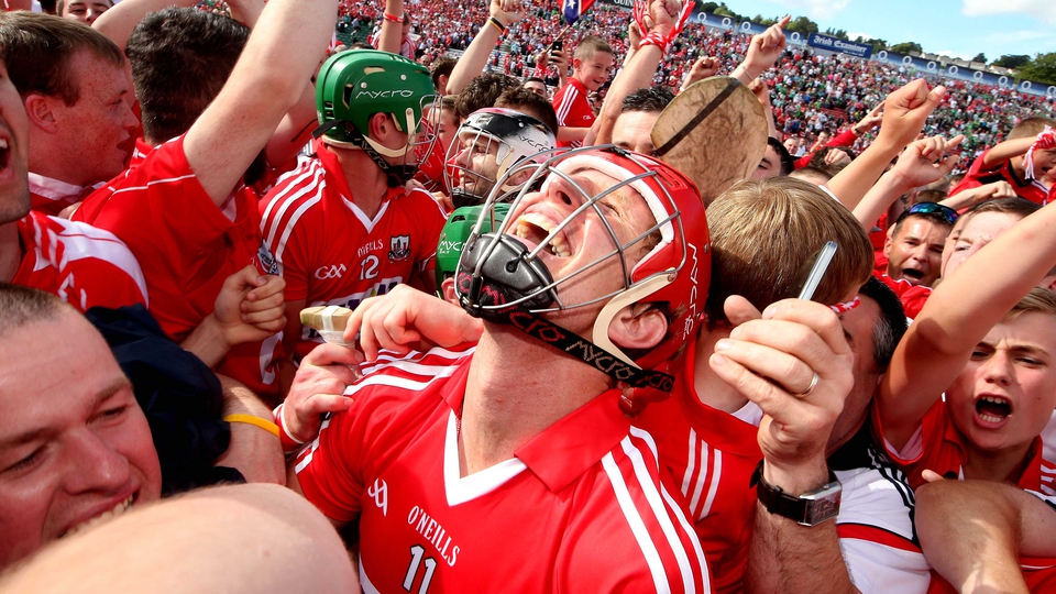 Cork's Bill Cooper celebrates after the game