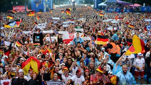 While German supporters gathered near Brandenburg gate felt just as well