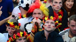 Germany fans watched nervously as Argentina threatened