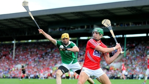 Aidan Walsh in action for Cork's hurlers during the summer