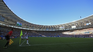 Germany midfielder Toni Kroos made a corner near the end of the first half in Maracana