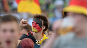 Germany fans celebrated their squad's attacking pressure