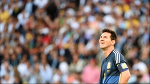 Argentina's star striker Lionel Messi looked on at the start of the second, as he no doubt hoped to make more of an impact in the final 45'