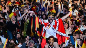 Back home in Berlin, German supporters erupted as their side became football's World Champions