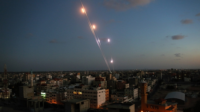 Six rockets are launched from the coastal strip into Israel by Hamas militants in Gaza