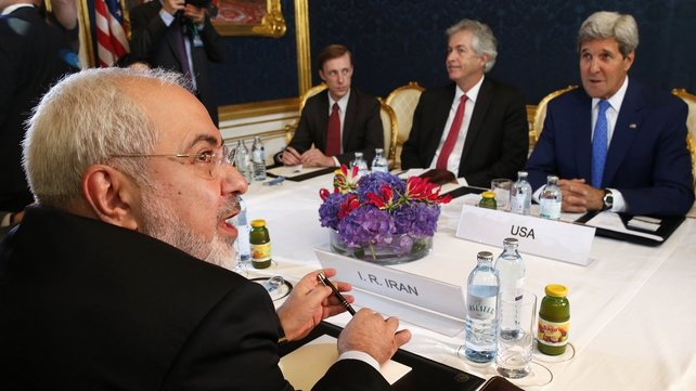Javad Zarif (left) and John Kerry met to discuss Iran's nuclear programme