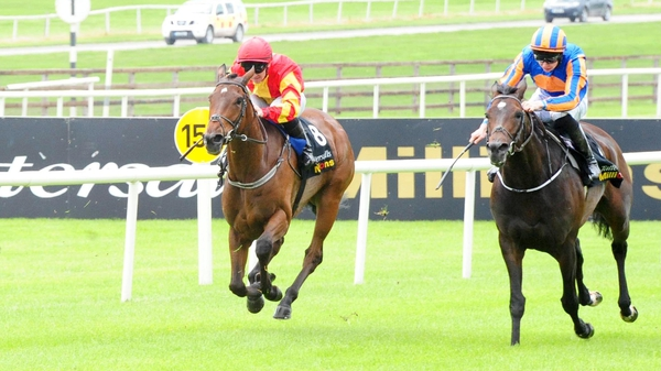 Euphrasia (L) finished third at the Curragh in May