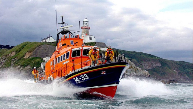 Howth RNLI lifeboat towed a stricken vessel back into Howth Harbour earlier in the day