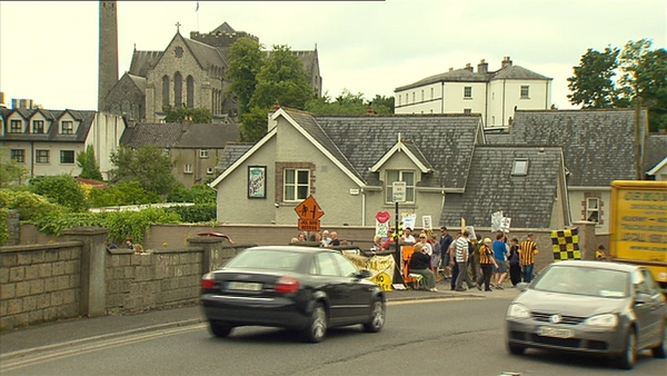 Protesters believe the scheme will damage Kilkenny's medieval heritage