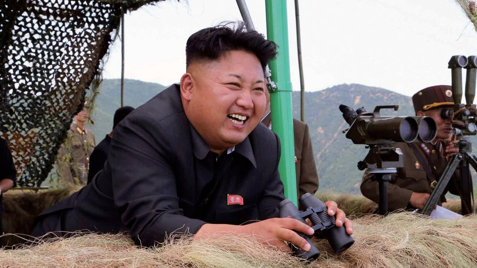 North Korean leader Kim Jong-un attends a live-fire drill by a North Korean artillery unit near the eastern border with South Korea