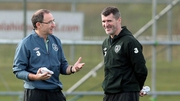Ireland manager and assistant, Martin O'Neill and Roy Keane