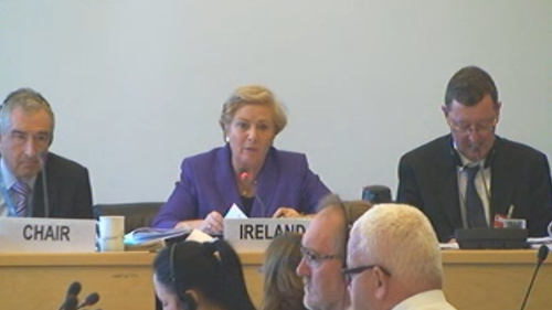 Minister for Justice Frances Fitzgerald appeared at the UN Human Rights Committee in Geneva