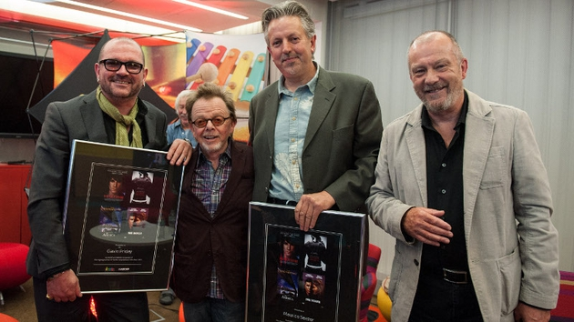 Gavin Friday with (left to right), ASCAP President Paul Williams,  Maurice Seezer, and Keith Donald