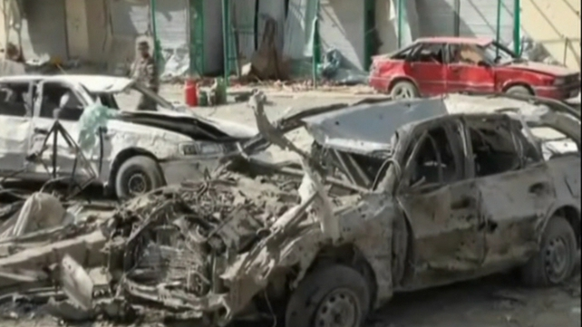A suicide car bomber has killed at least 89 people in a crowded market