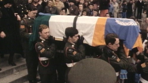 The funeral of Private Derek Smallhorne who was killed in 1980