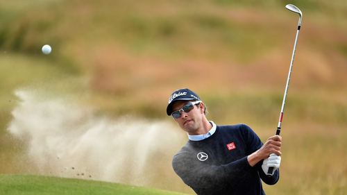 Adam Scott during a practice round prior to the start of the 143rd British Open Championship
