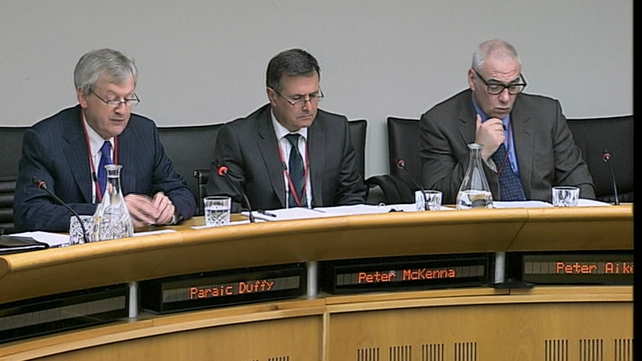Páraic Duffy, Peter McKenna and Peter Aiken appeared before the committee