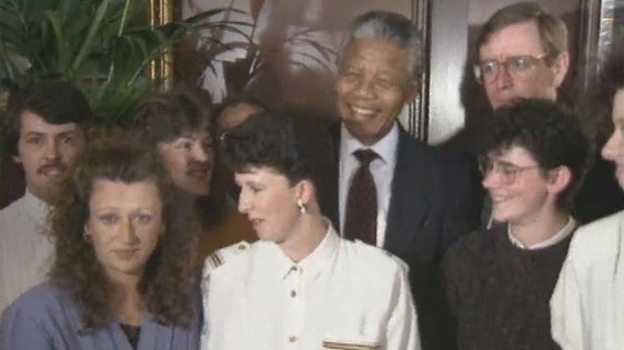Nelson Mandela and Dunnes Stores Strikers