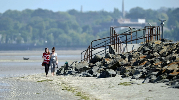 The ban on bathing at Sandymount Strand is in place until at least tomorrow