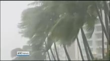 Hundreds of thousands evacuated as typhoon makes landfall in Philippines
