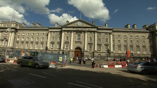 The bones were found during Luas work in front of Trinity College