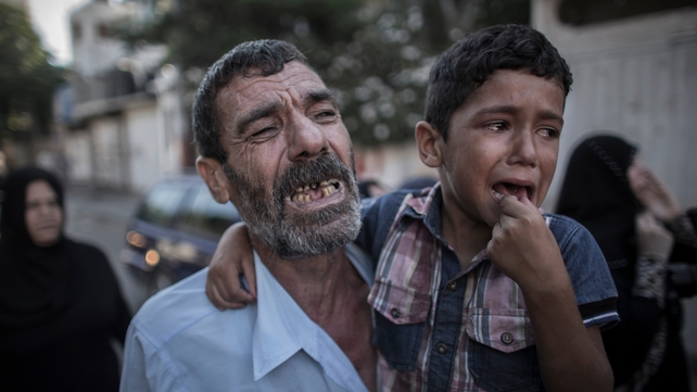 The father and brother of two of the boys killed in Gaza yesterday
