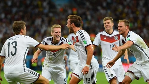Germany's World Cup win means they top the rankings