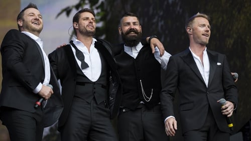 Mikey Graham, Keith Duffy, Shane Lynch and Ronan Keating performed in London's Hyde Park recently