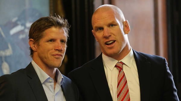 Simon Easterby (l) will work closely with Ireland captain Paul O'Connell in his new position