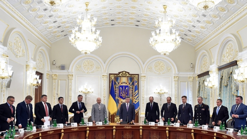 Ukraine's National Security and Defence Council at a meeting last month