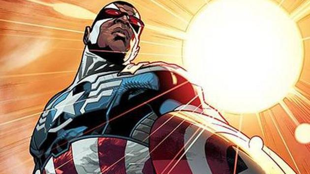 The new black Captain America. Pictiure: Marvel Comics