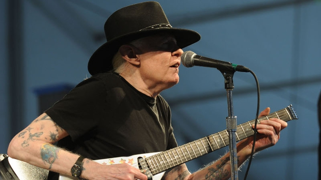 Johnny Winter in action in New Orleans in 2009
