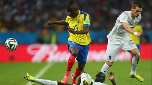 Enner Valencia scored three goals at the Brazil World Cup