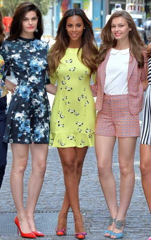 Rochelle Humes of The Saturdays and models at the launch of her clothing collection for Very.co.uk.
