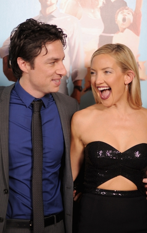 Zach Braff and Kate Hudson are all smiles at the Wish I Was Here screening in New York.