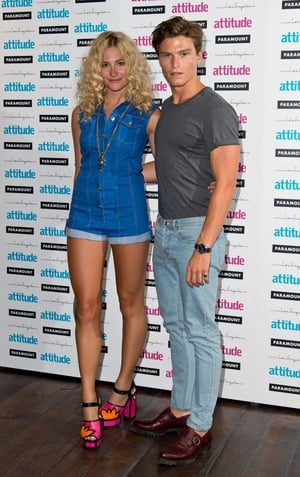 Pixie Lott and boyfriend Oliver Cheshire attend the Attitude Magazine Hot 100 party in London.