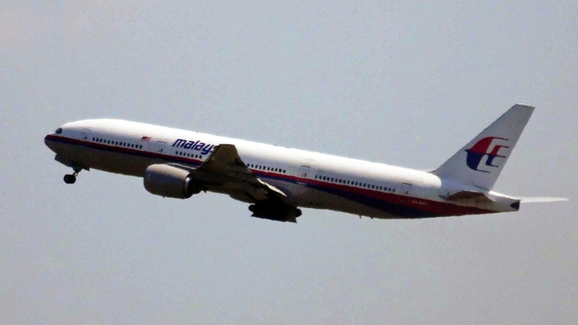 Malaysia Airlines flight MH17 shown taking off at 12.31pm from Schiphol airport near Amsterdam