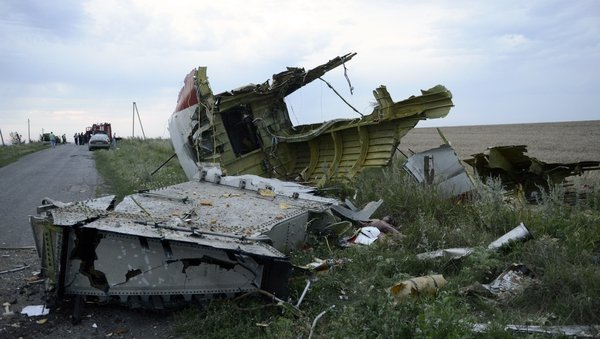 The plane crashed near Ukraine's border with Russia near the regional capital of Donetsk