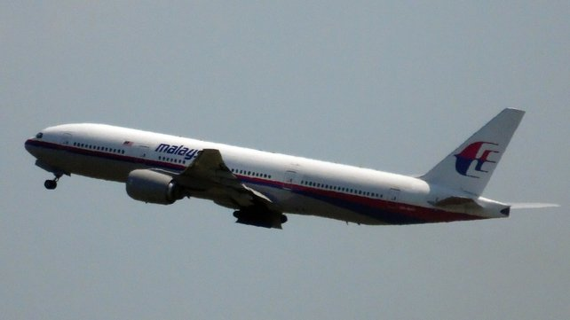Malaysia Airlines flight MH17 as it left Amsterdam yesterday