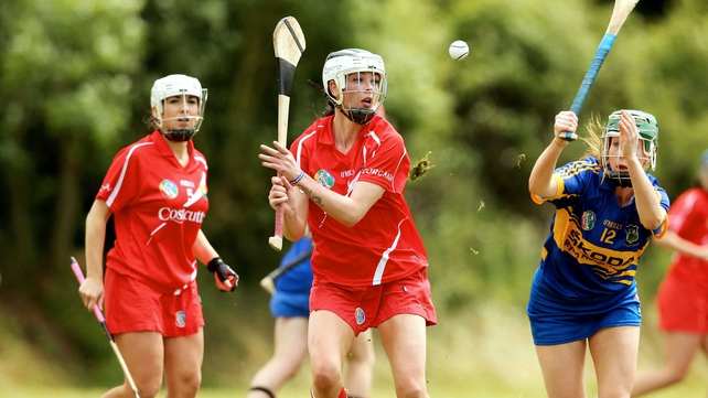 Cork's Aisling Thompson faces a tough battle against Galway