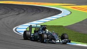 Lewis Hamilton at Hockenheimring earlier today
