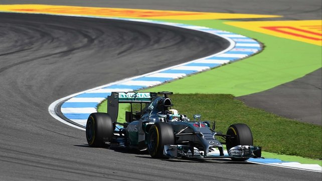 Lewis Hamilton at Hockenheimring earlier today